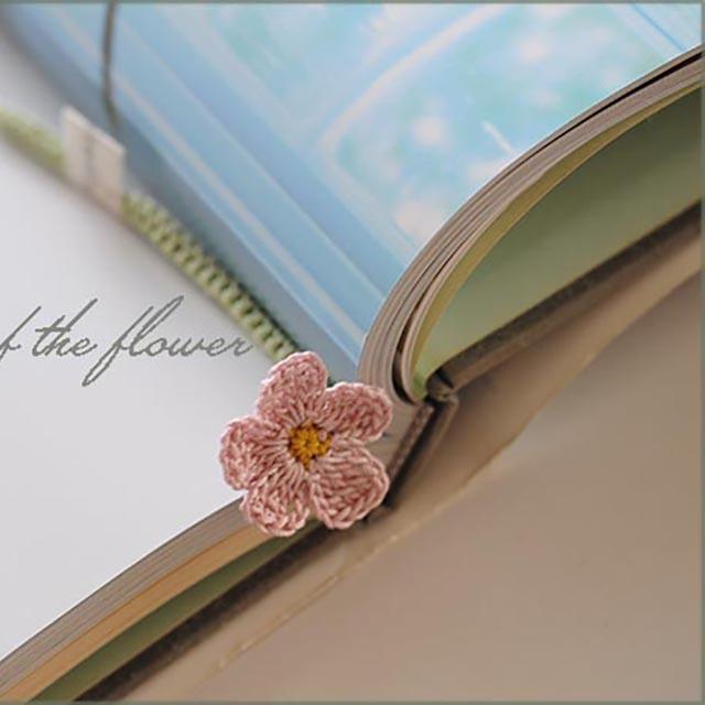 手編み花の栞