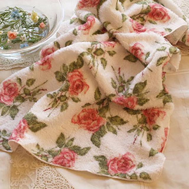 バラのバスタオル